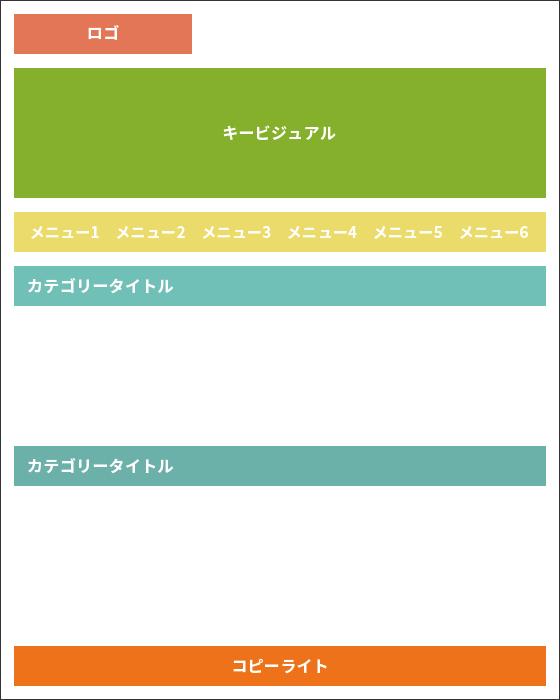 定型フォーマット(横メニュー)